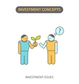 modern flat line icon design concept investment vector image