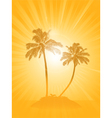 palm tree silhouette background vector image vector image