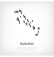 people map country Bahamas vector image