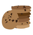 pile of cookies vector image