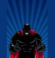 raging superhero ray light background silhouette vector image vector image