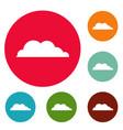 rain cloud icons circle set vector image vector image
