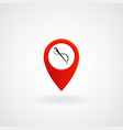 red location icon for tailor eps file vector image