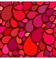 Red seamless pattern with drops vector image