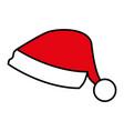 santa hat on white background vector image