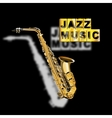 saxophone jazz music with a blurred shadow vector image vector image