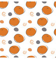 seamless fruit pattern oranges with abstra vector image vector image