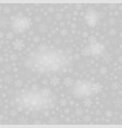 show flakes pattern on grey sky background vector image vector image