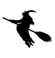 silhouette a witch vector image vector image