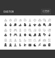 simple icons easter vector image