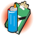 sketch cartoon matches matchboxes and vector image vector image