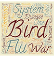 The Bird Flu and The Immune System Don t Leave vector image vector image