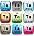 The chemical element Tantalum vector image vector image