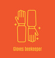 thin line icon beekeeper s vector image