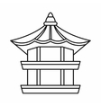 Traditional korean pagoda icon outline style vector image vector image