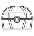 treasure wooden box cartoon vector image vector image