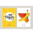 Vegan food designs for healthy eating vector image vector image