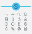 web icons set collection of calendar pinpoint vector image vector image