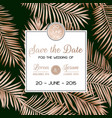 wedding invitation card template design poster vector image vector image