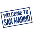 welcome to san marino stamp vector image vector image