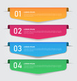 origami infographic banner template vector image