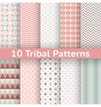 10 Tribal seamless patterns tiling Endless texture vector image vector image