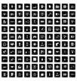 100 web development icons set grunge style vector image vector image