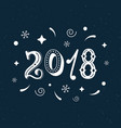 2018 hand written modern brush lettering clipart vector image vector image