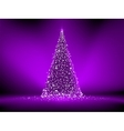 Abstract purple christmas tree on purple EPS 8 vector image vector image