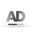 ad a d lines letter design with creative elegant vector image vector image
