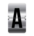 Alphabet silver flipboard letters a vector image vector image