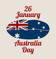 australia flag design concept vector image vector image