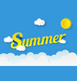background summer in paper art style origami style vector image