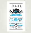 Barbecue party invitation BBQ brochure menu design vector image vector image