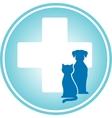 blue veterinary symbol vector image vector image