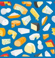 cheese product dairy background pattern vector image vector image