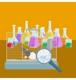 Chemistry education research laboratory equipment vector image vector image