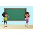 Children in classroom vector image vector image