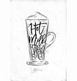 coffee latte cup vector image vector image