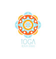 colorful creative yoga flower logo vector image vector image