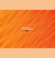 colorful geometric on orange background vector image vector image
