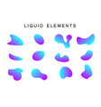 colorful gradient fluid shapes vector image vector image