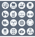 communication and network icon set vector image