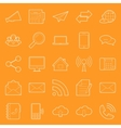 Comunication and web thin lines icons set vector image vector image