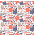 cooking seamless pattern retro style with kitchen vector image vector image