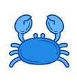 crab line icon vector image