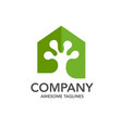 creative gecko and house logo vector image