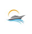cruise ship logo template icon design vector image vector image