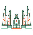 democracy monument linecolor vector image