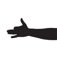 dog arm shadow vector image vector image